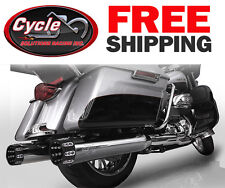 """RC Components RCX116C-27E  4.5"""" Gatlin Eclipse Slip-Ons 2017 Harley Touring"""