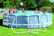 15' X 42' Round Prism Frame and #8482; Pool (1,000 Gph Filter Pump, Ladder,