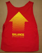 BALANCE STRAIGHT EDGE HARDCORE Sweden SHIRT GR M CUT UP HC Minor Threat Slapshot