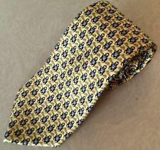 """VINEYARD VINES Necktie 100% Silk Pale Yellow/Blue Gorillas Custom AXA Tie 60"""""""