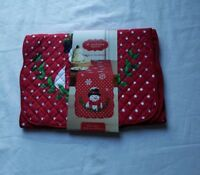 St Nicholas Square Snowman Table Runner - New