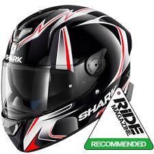 SHARK SKWAL 2 Luces LED Sykes Kwa Casco De Motocicleta-Blanco Negro