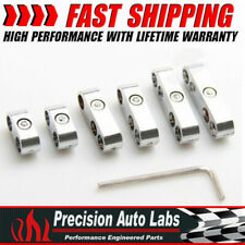 6 Pack Chrome Wires Separators Spark Plug Dividers Looms Ignition 7mm 8mm 9mm