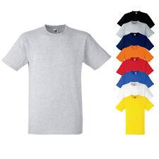 Fruit of the Loom Heavy Cotton Herren T-Shirt Einfarbig S M L XL XXL 3XL F182