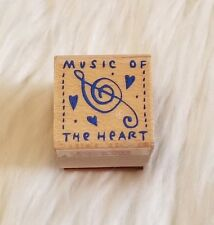 Hero Arts Music of the Heart Wood Mounted Rubber Stamp Vintage 2000