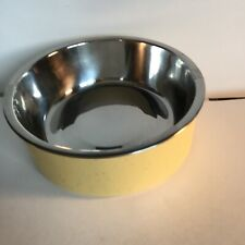 New Boots & Barkley Speckle Melamine Dog Bowl Yellow w removeable bowl