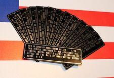 1970 Replacement HONDA CB450 CB 450 Twin Head tube Plate  FRAME Data PLATE Alu
