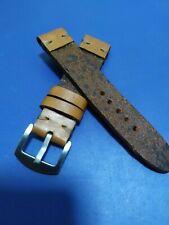 20 y 22mm Correa Reloj cuero Envejecido Pulsera Leather Watch Band Strap