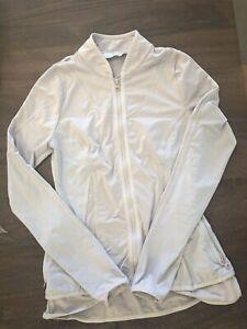 ADIDAS by STELLA McCARTNEY Lightweight Light Gray Front Zip Jacket  Small