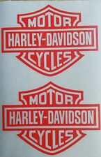 2 Stück Harley Davidson Logo Aufkleber in Orange 13 × 10 cm