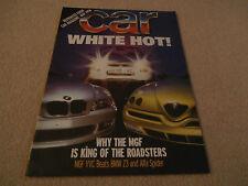 CAR reprint  WHITE HOT 1996. MGF vvc. BEATS  BMW Z 3. Alfa Spider