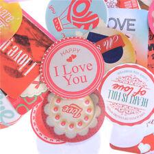 38Pcs Stickers Love Heart Diary Photo Album Decoration Baking Wedding Gift TSCA