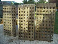 More details for french vintage champagne riddling racks oak wood reclaimed