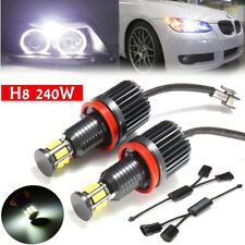 2x 240W H8 12 LED Angel Eye Halo Ring Light For BMW E82 E90 E92 E60 E61 E63 E89
