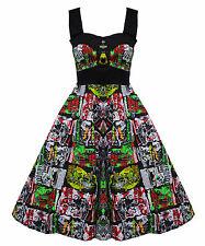 Hell Bunny Women's Halter Neck Casual Dresses