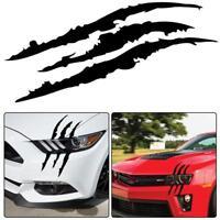Universal Black Car Headlight Scratch Stripe Decal Sticker Claw Stripe Slash