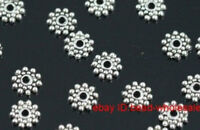 Wholesale Lots 190 Pcs Tibetan Silver Daisy Flower Spacer Beads Findings 8mm