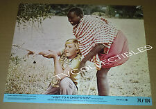 8x10 Lobby Card~ VISIT TO A CHIEF'S SON ~1974 ~John Philip Hogdon ~Jesse Kinaru