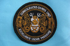 """PATCH US NAVY CONSOLIDATED DIVERS UNIT  """" EXCELLENCE UNDER PRESSURE """""""