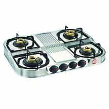 Prestige Royale Stainless Steel 4 Burner LPG Gas Stove Auto Ignition Cooktops