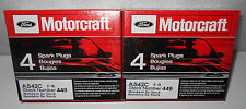 8 Motorcraft SP-449 AS42C Sparkplugs