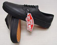 Vans Authentic Decon Premium Leather Black/Black VN00018CGKM Men's Size 12