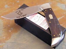 SCHATT & MORGAN JOHN HENRY #1269 DARK CURLY MAPLE LARGE CLASP KNIFE, 1 of 50