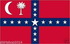 """Set of 2 South Carolina Sovereignty Secession flags decals 4"""" vinyl sticker"""