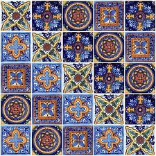 40 PCS Talavera 6X6 Handmade Ceramic Tile Mexican 501