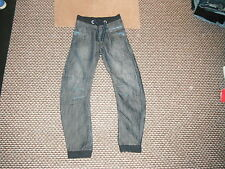 """Urban Ready For Action Cuff Jeans W 26"""" L 28"""" Faded Dark Blue Boys 12 Yrs Jeans"""