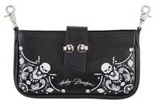 Harley-Davidson Women's Willie G Skull Bandana Pouch Leather Hip Bag w/ Strap