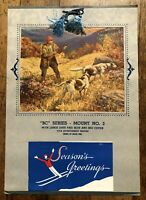 Vintage 1947 Wall Calendar with Hunting with Dogs Image and Champion's Afield