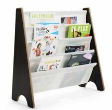 4 Tier Children Bookshelf Kids Storage Book Organiser Rack Display Unit Toy Box