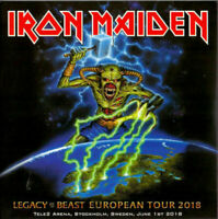 "IRON MAIDEN : ""Legacy of the beast - Excellent Live aStockholm 2018) (RARE 2 CD)"