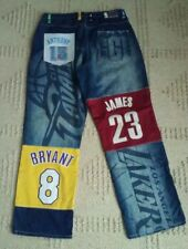 UNK NBA Size 36x33 Jeans Pierce James Kobe Bryant #8 Iverson McGrady Embroidered