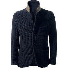 Men's Hand Knitted Cardigan XS,S,M,L,XL,XXL jacket Wool Hand Knit sweater 25
