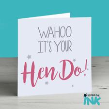 Hen Party Card - Hen Do Card - Hen Night - Bride To Be - Wedding card
