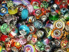 NEW HOT COLORS High Visual 100/pcs MIXED Acrylic charm, European Beads LOT