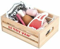 Le Toy Van HONEYBAKE PLAY MARKET CRATE MEAT Wooden Toy BN