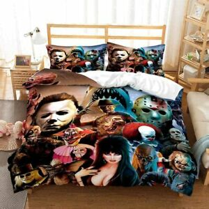 Horror Movie Character 3PCS Bedding Set Duvet Cover Pillowcases Comforter Cover
