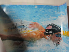 "MICHAEL PHELPS SIGNED 16X20 PHOTO TEAM USA ""18 GOLD MEDALS"" PSA 4A87511"