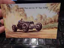 RAYMOND MAYS  by artist WARD  motor racing  ERA -  VINTAGE POSTCARD  as illus  B