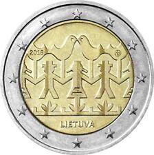 LITUANIA 2 EUROS 2018 - FESTIVAL DE LA CANCION Y DANZA - SIN CIRCULAR -