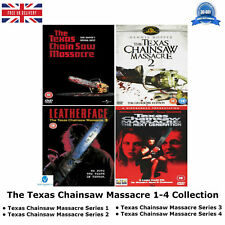 The Texas Chainsaw Massacre Series 1-4 Complete Collection 1 2 3 4 NEW UK R2 DVD