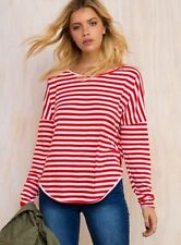 Polyester Long Sleeve Hand-wash Only Striped Tops for Women