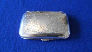 Antique sterling silver card / ladies cigarette case Birmingham 1904 engraved