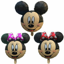 Disney Mickey Minnie Mouse Printed Face Birthday Foil Helium Balloons