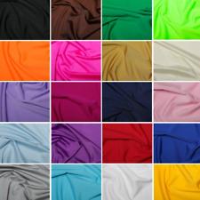 Plain All Way Stretch Lycra Fabric Nylon Spandex Dress Dance Wear 60'' Width