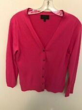 PURE Collection PINK 100% Cashmere Cardigan Sweater Women Top Size 4