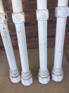 Architectural Cedar Columns Pre-Federation Brisbane Landmark Building